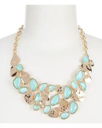 Dillard's - Metallic Stone Mosaic Bib Necklace - Lyst