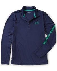 Under Armour - Blue Fish Hunter Tech Stretch Quarter-zip Pullover for Men - Lyst