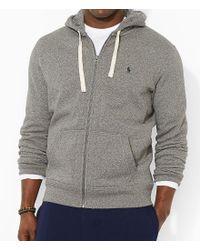 Polo Ralph Lauren. Men s Gray Big   Tall Classic Fleece Full-zip Hoodie 3449b0f9a