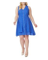 REBEL WILSON X ANGELS - Blue Plus Zip-front Wrap Dress - Lyst