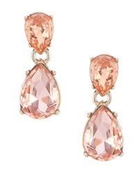 Givenchy - Metallic Pear Double Drop Earrings - Lyst