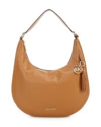 MICHAEL Michael Kors - Brown Lydia Large Tassel Hobo Bag - Lyst