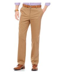 Hart Schaffner Marx Multicolor Straight-fit Pic-stitched Flat-front Dress Twill Chino Pants for men
