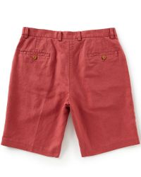 "Brooks Brothers - Red Houndstooth Linen 10"" Shorts - Lyst"
