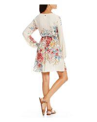 Billabong | White Rain On Floral Printed Tie-waist Sheath Dress | Lyst