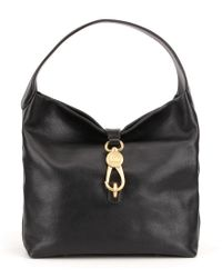 Dooney & Bourke - Black Florentine Collection Logo Lock Hobo Bag - Lyst