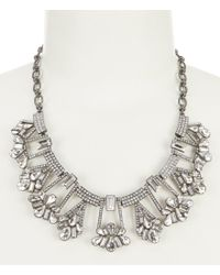 Belle By Badgley Mischka - Metallic Geometric Stone Frontal Necklace - Lyst