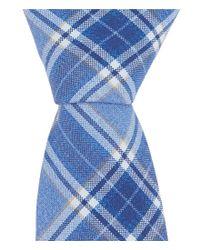"Original Penguin - Blue Inversion Plaid 2.25"" Skinny Tie for Men - Lyst"