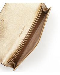 MICHAEL Michael Kors - Metallic Flat Wallet - Lyst