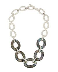 Robert Lee Morris - Metallic Abalone Frontal Necklace - Lyst