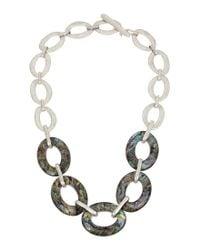 Robert Lee Morris | Metallic Abalone Frontal Necklace | Lyst