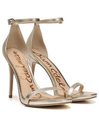Sam Edelman - Nadya Metallic Leather Dress Sandals - Lyst