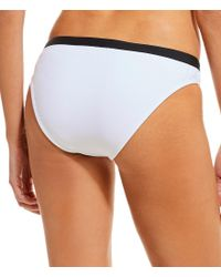 Gianni Bini - White Double Down Neoprene Banded Bikini Swimsuit Bottom - Lyst