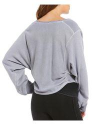 Free People - Gray Sunset Sweat Sweater - Lyst