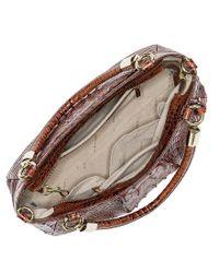 Brahmin | Brown Melbourne Collection Ruby Croco-embossed Shoulder Bag | Lyst