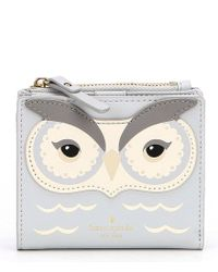 Kate Spade - Multicolor Star Bright Owl Adalyn Bifold Wallet - Lyst