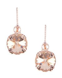 Anne Klein - Metallic Stone Drop Earrings - Lyst