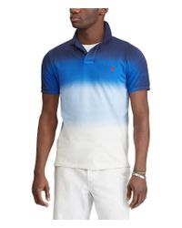 Polo Ralph Lauren - Blue Classic-fit Dip-dyed Mesh Short-sleeve Americana Polo Shirt for Men - Lyst