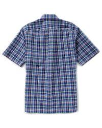 Cremieux - Blue Daniel Signature Pinpoint Plaid Short-sleeve Woven Shirt for Men - Lyst