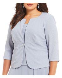 Alex Evenings - Blue Plus Size A-line 2-piece Jacket Dress - Lyst