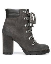 Sam Edelman - Black Carolena Leather Hiker Booties - Lyst