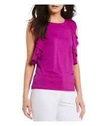 Antonio Melani - Pink Erin Sleeveless Ruffle Knit Top - Lyst