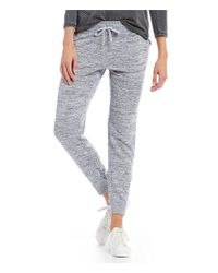 Calvin Klein - Blue Performance Marled Knit Zip Cuff Jogger Pants - Lyst