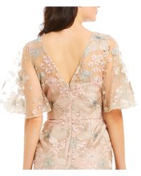 David Meister - Multicolor Soft Embroidered Beaded Gown - Lyst