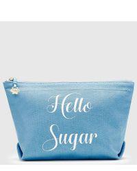 Draper James - Blue Hello Sugar Canvas Pouch - Lyst