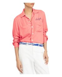 Polo Ralph Lauren - Multicolor Embroidered Twill Shirt - Lyst
