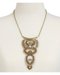 Lucky Brand | Metallic Quartz Rock Crystal Sunburst Statement Necklace | Lyst