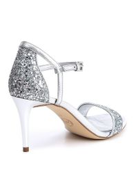 MICHAEL Michael Kors - Simone Metallic Glitter Mid Dress Sandals - Lyst