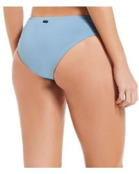 Roxy - Blue Solid Softly Love Strappy 70's Bikini Swimsuit Bottom - Lyst