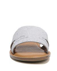 Franco Sarto - Sarto By Ginelle Metallic Lizard Print Slide Sandals - Lyst