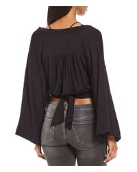 Free People | Black That's A Wrap Solid Top | Lyst