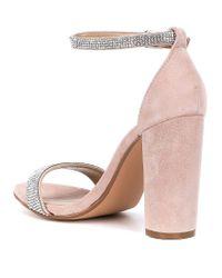 Steve Madden - Multicolor Carrson Suede Rhinestone Dress Sandals - Lyst