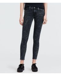 Levi's - Blue 710 Speckled Skinny Jeans - Lyst