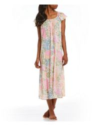Miss Elaine | Multicolor Tricot Long Nightgown | Lyst