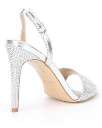 ALDO Metallic Lelonna Rhinestone Sling Sandals