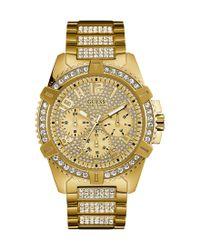 Guess - Metallic Multifunction Bracelet Watch for Men - Lyst