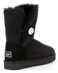 Ugg - Black ® Bailey Button Bling Boots - Lyst