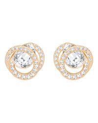 Swarovski - Metallic Generation Crystal Pavé Stud Earrings - Lyst