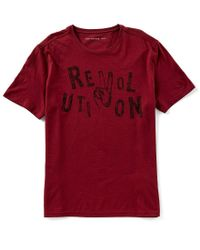 John Varvatos Red Star Usa Revolution Graphic Short-sleeve Tee for men