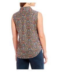Antonio Melani - Multicolor Made With Liberty Fabrics Peach Pincher Lauren Blouse - Lyst