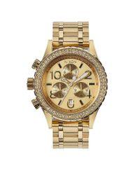 Nixon - Metallic The 38-20 Crystal Bezel Stainless Steel 6 Hand Chronograph Watch - Lyst