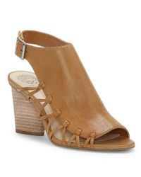 Vince Camuto - Black Ankara Side Lattice Sandals - Lyst