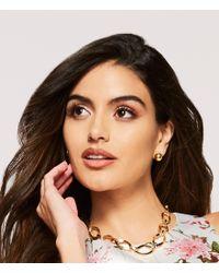 Lauren by Ralph Lauren - Metallic Goldtone Ball Stud Earrings - Lyst
