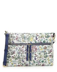 Antonio Melani - Blue Made With Liberty Fabrics Floral Cross-body Colorblock Bag - Lyst