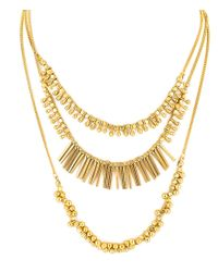 Panacea - Metallic Layered Boho Necklace - Lyst