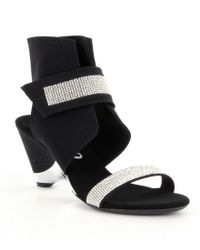 Onex - Black Celebrity Rhinestone Ankle Strap Dress Sandals - Lyst